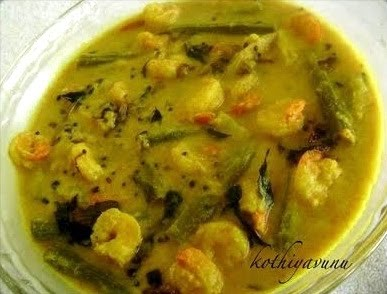 Chemmeen Muringakka Curry Recipe | Prawn -Shrimp Drumstick Curry Recipe