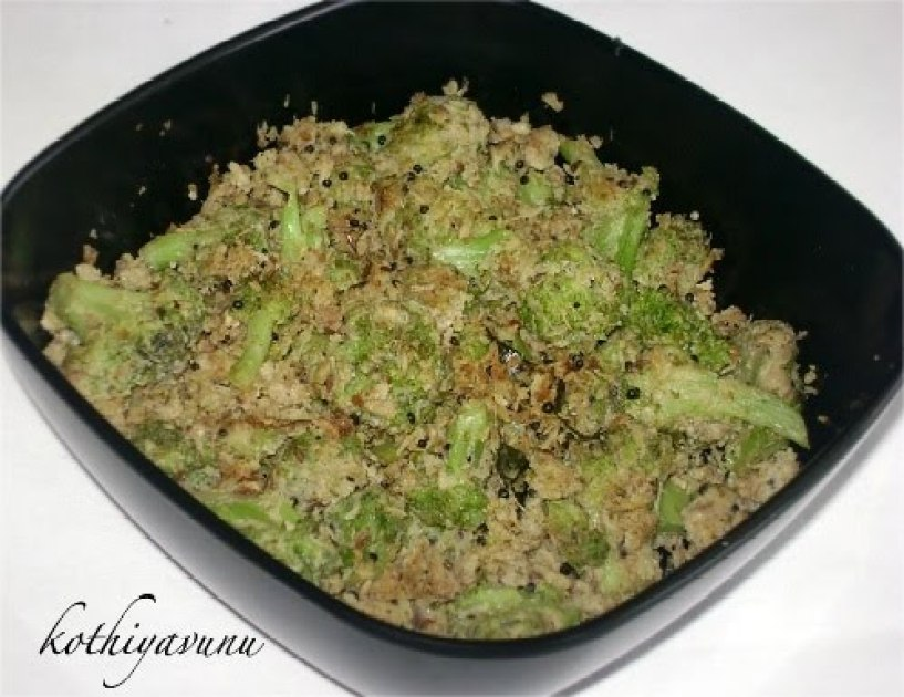 Broccoli Thoran -Broccoli Stir Fry kothiyavunu.com