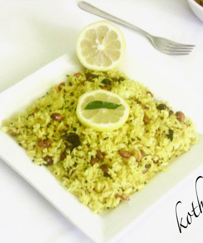 Lemon Rice Recipe – Elumicham Sadam Recipe
