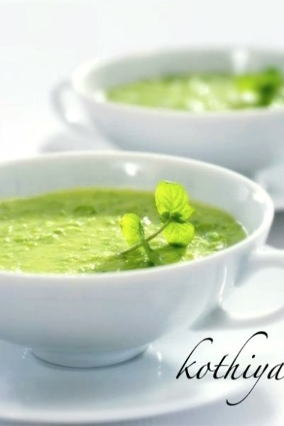 Chilled Avocado Cucumber Mint Soup
