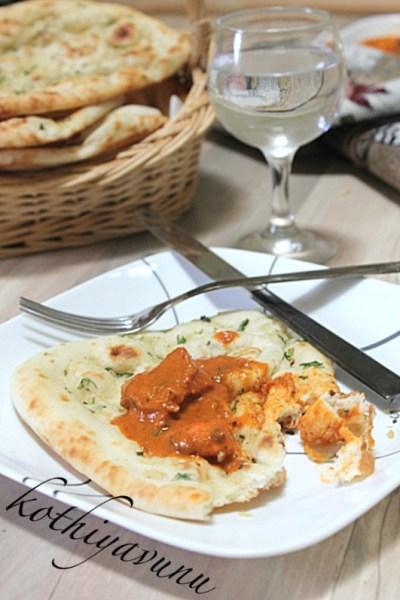 Garlic Naan Recipe – Homemade Garlic Naan Recipe – Garlic Flavored Leavened Indian Flatbread