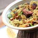 Fried Fish Masala Rice Recipe |Varutha Meen Masala Choru & Cucumber Tomato Raita Recipe