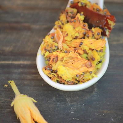 Mathappoo Thoran Recipe-Pumpkin Blossom Stir Fry Recipe