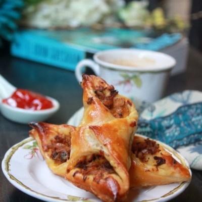 Chicken Puffs Recipe – Bakery Style   Spicy Chicken Puffs Recipe