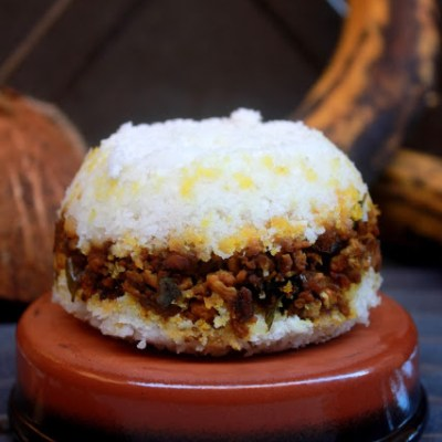 Erachi – Irachi Puttu Recipe   Masala Erachi Puttu Recipe   Steamed Rice Flour with Meat Mixture