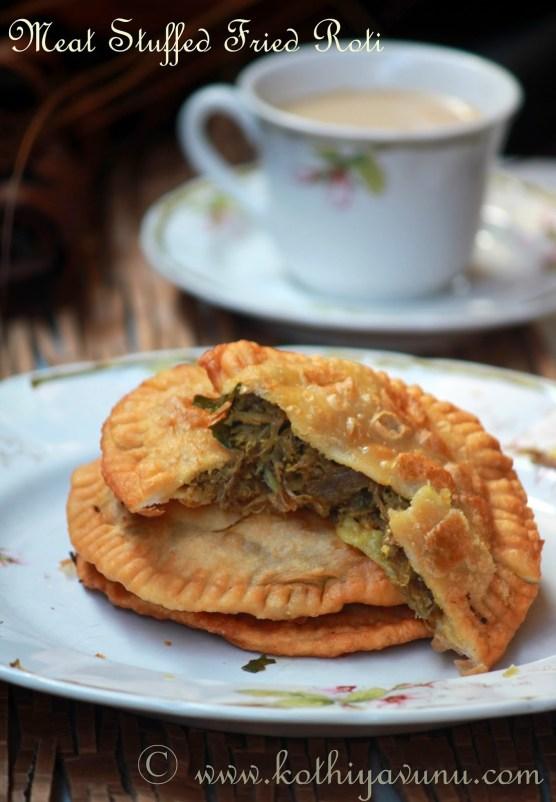 Irachi-Erachi Pathiri-Pathil -Meat Stuffed Fried Roti |kothiyavunu.com