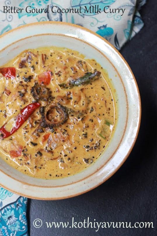 Pavakka Paal Curry - Bitter Gourd Curry |kothiyavunu.com