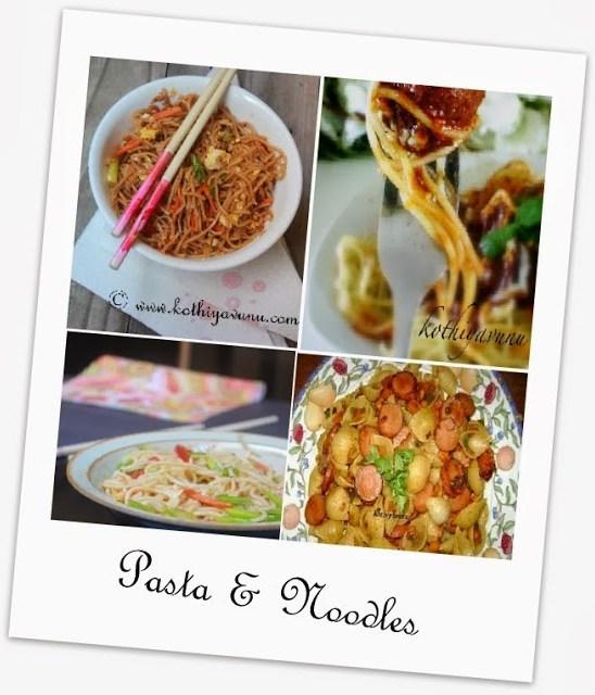 Veg-Recipes -Pasta and Noodles |kothiyavunu.com