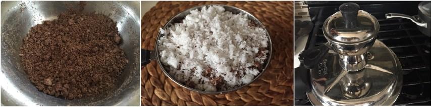 Ragi Puttu -Kerala Ragi-Finger Millet Puttu|kothiyavunu.com