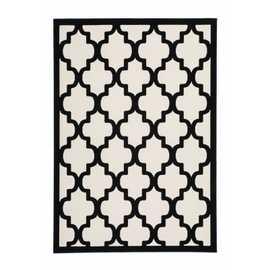 tapis quadrilobe noir 120x170cm