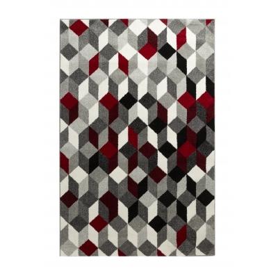 cara petit tapis de salon multicolore 50 x 80 cm rouge
