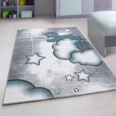 nuage tapis chambre enfant 120 x 170 cm gris
