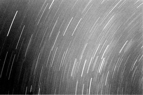 black and white universe photo