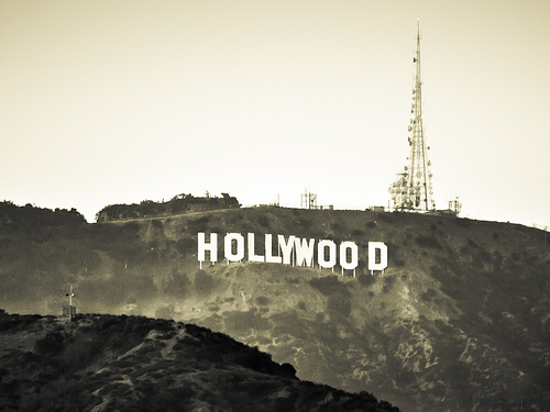 black and white hollywood photo