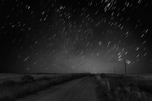 black and white starry sky photo