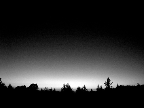 black and white sky stars photo