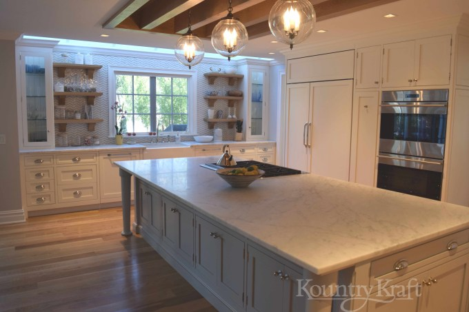 Custom Painted Kitchen Cabinets In Old Saybrook Connecticut