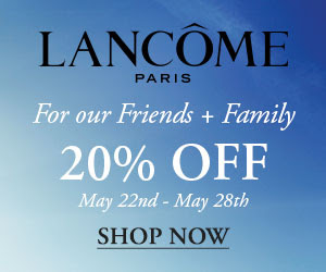 lancome 20% off