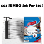HOT!!! $63 Jumbo Set Vacuum Bags w/Travel Pump, Just $15.99!!!