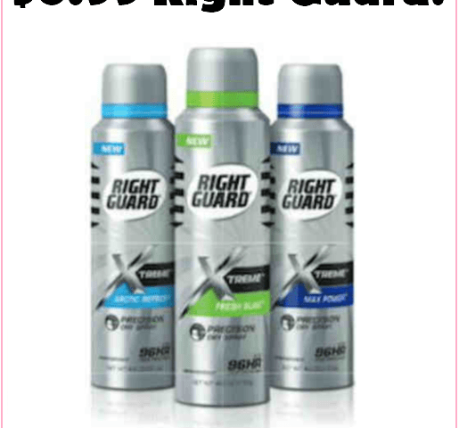 Grab Right Guard Spray Deodorants For Just $0.99 At CVS, TODAY ONLY!!!