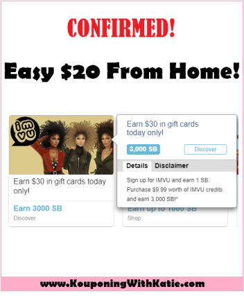 $20 Money Maker Deal With IMVU Online!!! - Kouponing With Katie