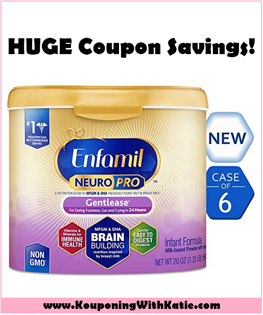 picture about Enfamil Printable Coupons identify Unusual Enfamil NeuroPro Bundle; Refreshing $55 Accessible!!! $13 For each Can