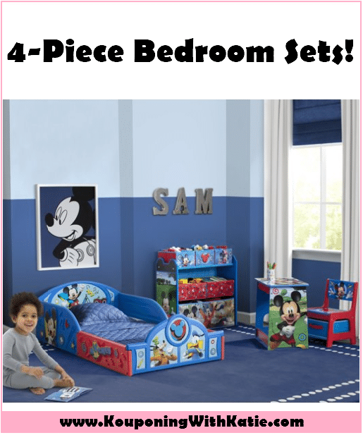 99 Delta Children 4 Piece Room In A Box Bedroom Set Boy Girl Brands Available Kouponing With Katie