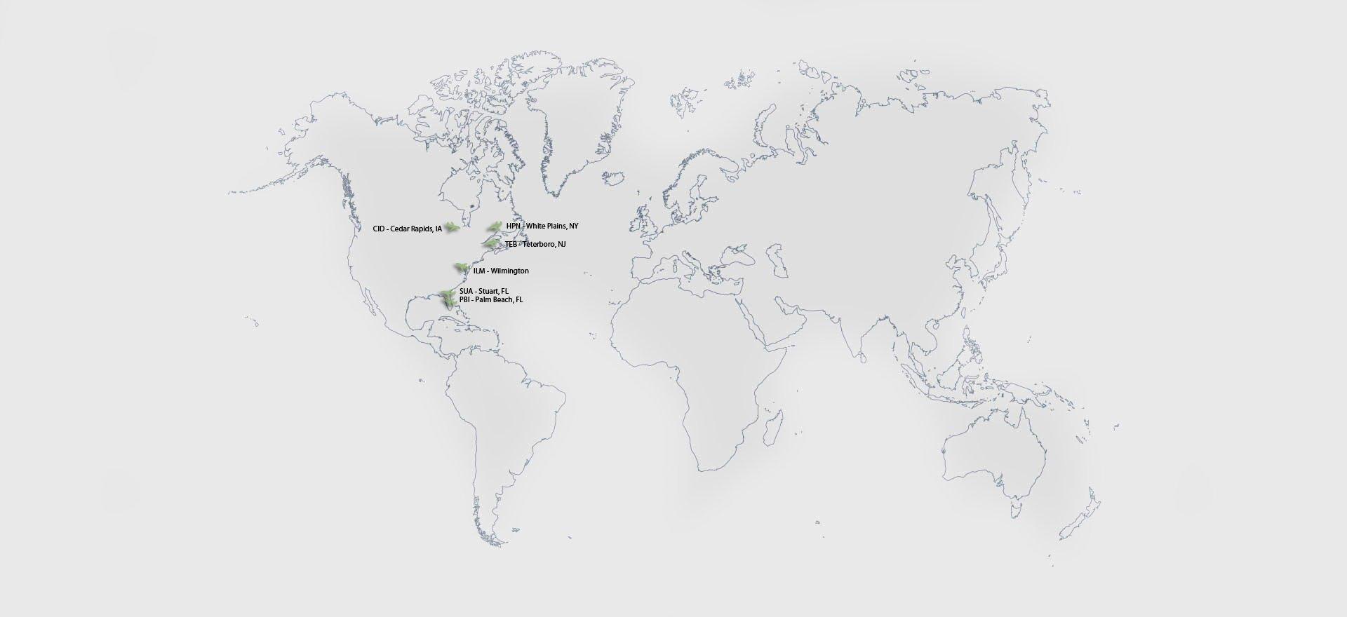 Map Parallax Airports