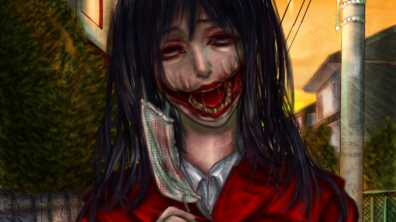 Image result for japanese urban legend kuchisake onna