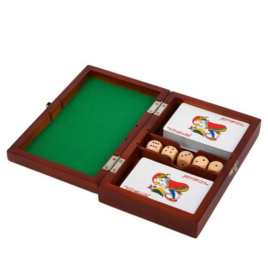 Caja de juegos cartas y dados