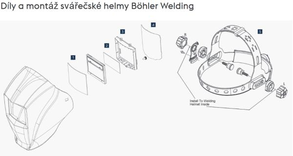 Böhler Guardian_Svářečské-helmy - Díly