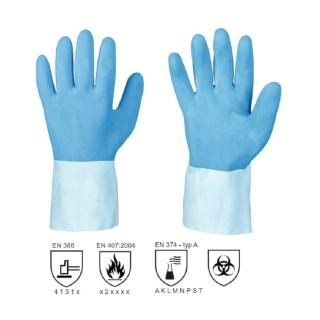 MORATUWA latexové pracovní rukavice na bavlněném úpletu - foto 1
