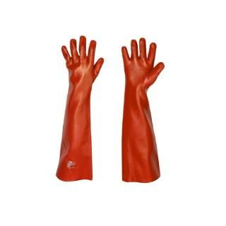 MEMPHIS dlouhé PVC latexové pracovní rukavice na textilním podkladu - foto 1