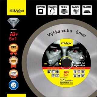 125x2.2x10 5v1 Diamantový řezný kotouč KWXDK12522C+ Kowax - foto 1