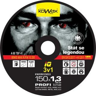 150x1.3x22.2 3v1 Řezný kotouč Kowax KWXRK15013 - foto 1