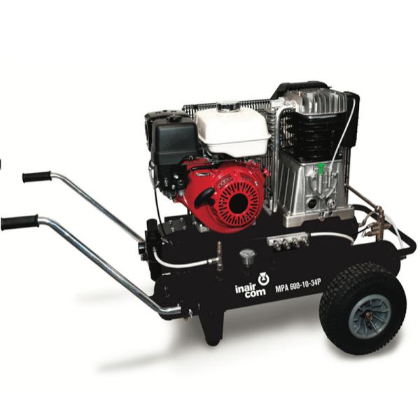 MPA 600-10-34P benzínový pojízdný pístový kompresor InAirCom Mobil Petrol Air 6,7kW - foto 1