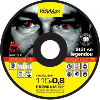Řezný kotouč Kowax IQ+ 5v1 115 x 0,8 x 22,2 - foto 1