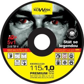 Řezný kotouč Kowax IQ+ 5v1 115 x 1,0 x 22,2 - foto 1