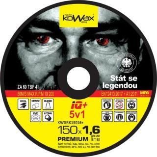 Řezný kotouč Kowax IQ+ 5v1 150 x 1,6 x 22,2 - foto 1