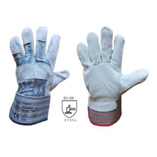 KOMBIK AB kombinované pracovní rukavice ze štípené hověziny - foto 1
