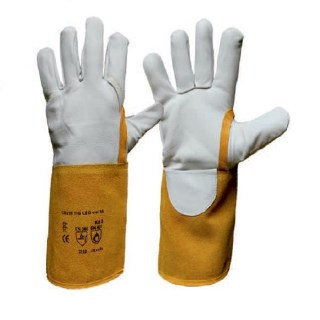 TIG LEO teploodolné rukavice velikost 8-11 z bílé lícové kozinky - foto 1