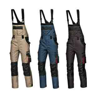 HARRISON šedivé montérkové kalhoty šedivé s náprsenkou - foto 1