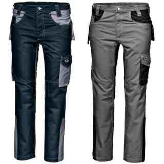 FUSION montérkové šedivé kalhoty ze 100% bavlny - foto 1