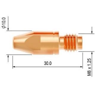 PB4015-09 Průvlak 0.9 M8/10 E-Cu PARKER
