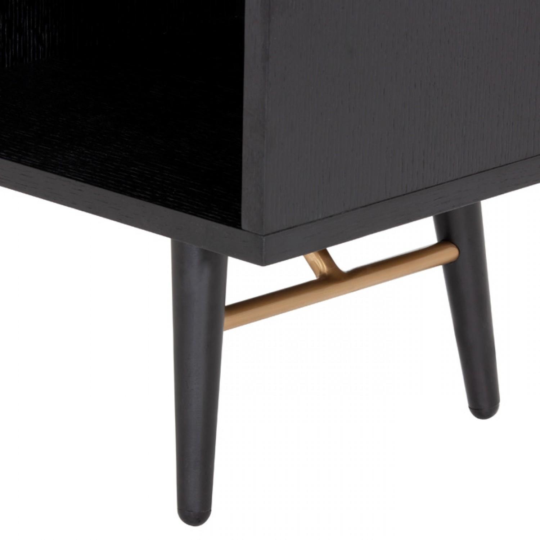meuble tv 160 cm stockholm noir et dore