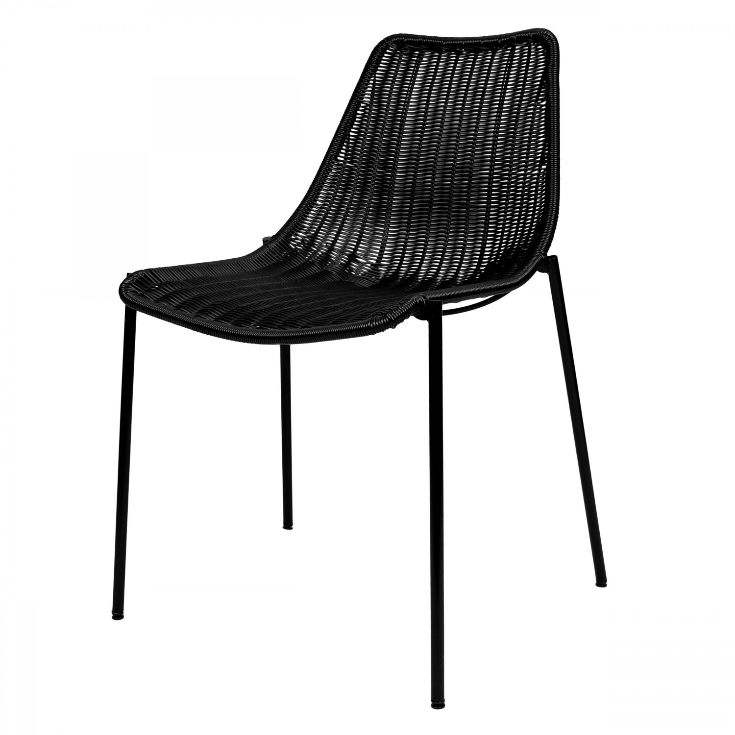 chaise empilable en resine tressee