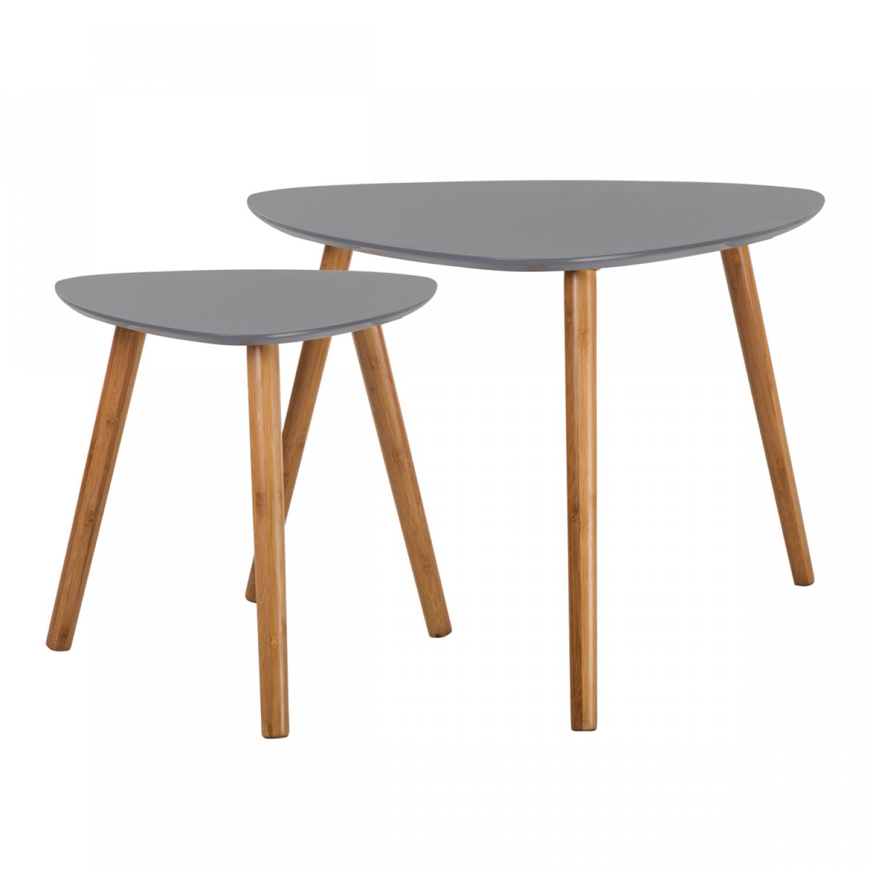 Tables Basses Gigognes En Bois Grise Koya Design