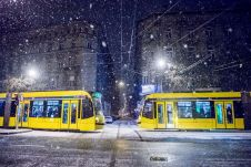 Budapest, 2017. január 13. Havazás Budapesten 2017. január 13-án. MTI Fotó: Balogh Zoltán