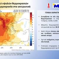 Συνεχίζεται το νέο κύμα πολύ υψηλών θερμοκρασιών το επόμενο διήμερο – Στους 42⁰C η θερμοκρασία στα ηπειρωτικά