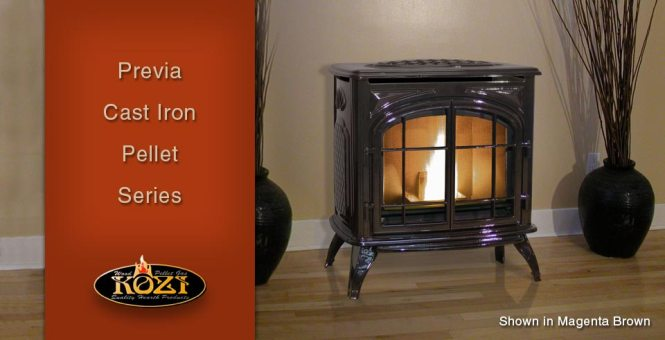 View In Gallery Closer Look At Curve Ductable Pellet Stove